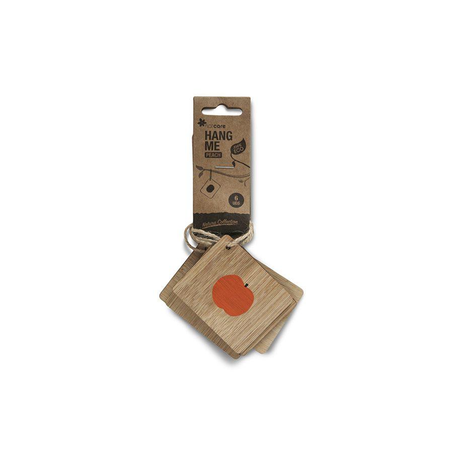 Etiqueta de bambú colgar ilustración melocotón – Hang me peach