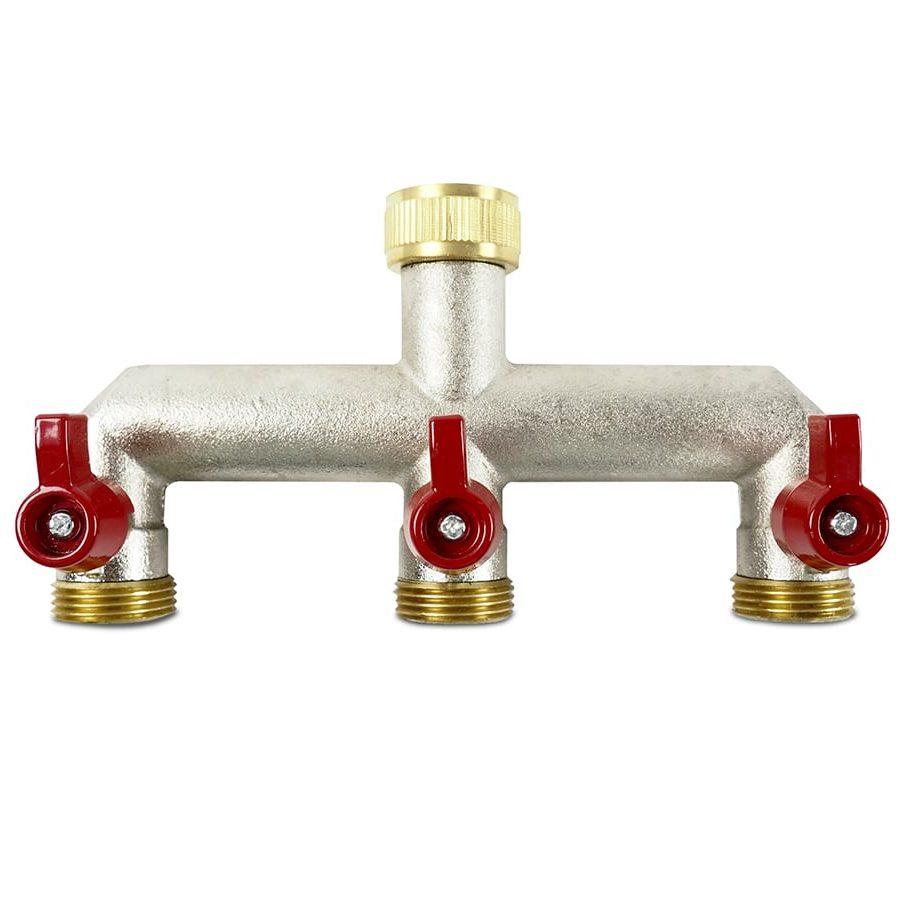 Distribuidor de agua 3 vías de latón – BRAZ3W