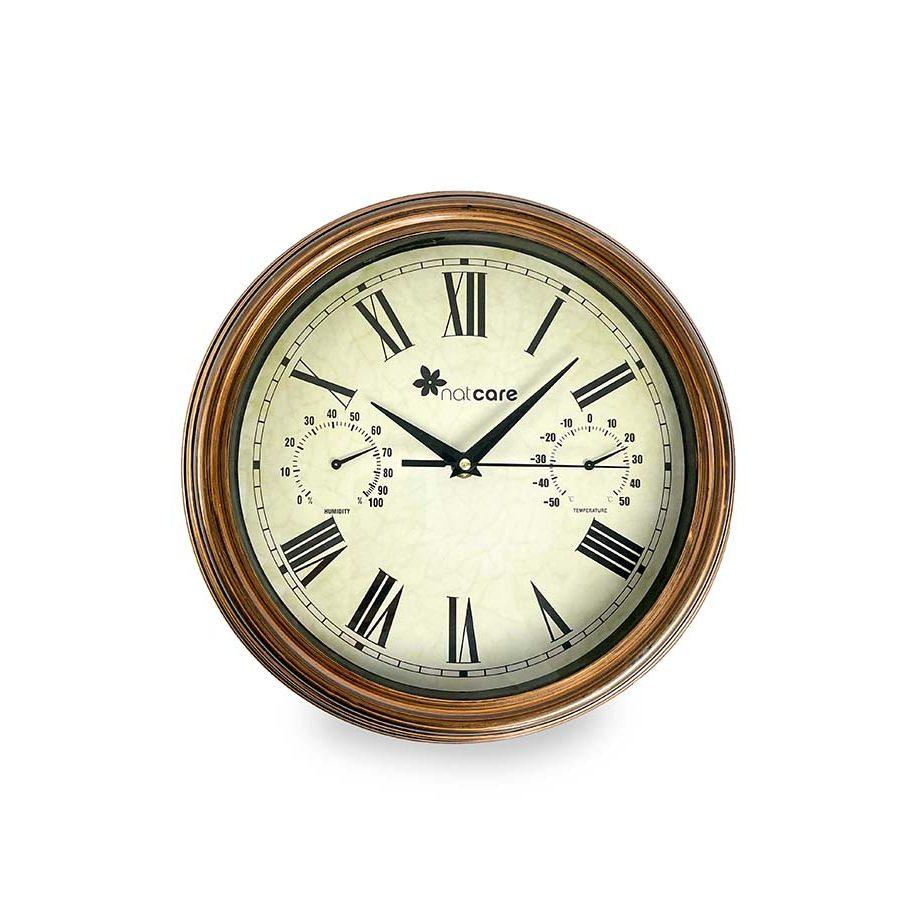 Reloj con termómetro e higrómetro – Clomet