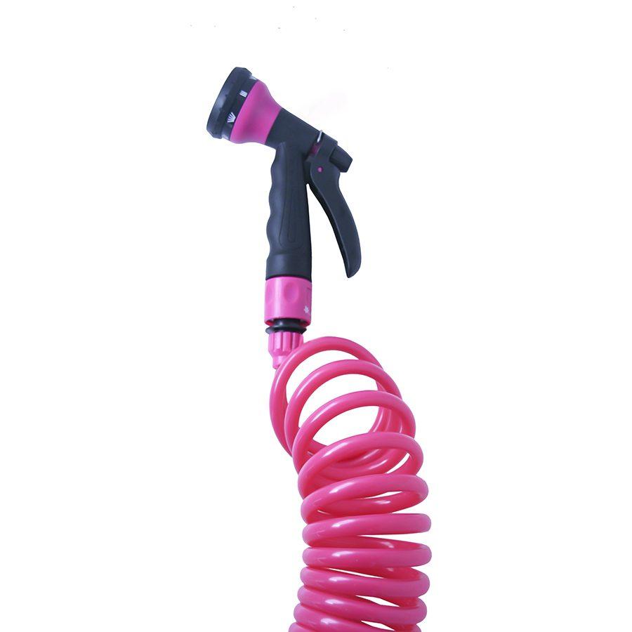 Manguera espiral 15 metros fucsia – Colors15 pink