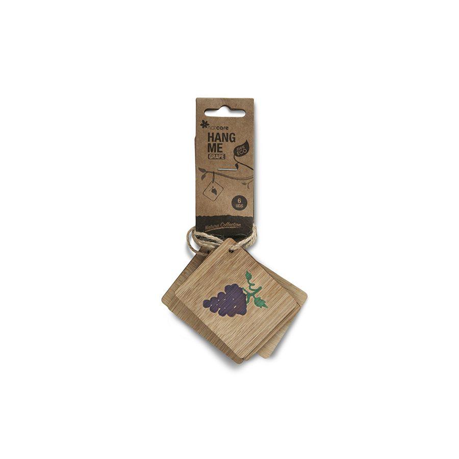 Etiquetas de bambú colgar ilustración uva – Hange me grape