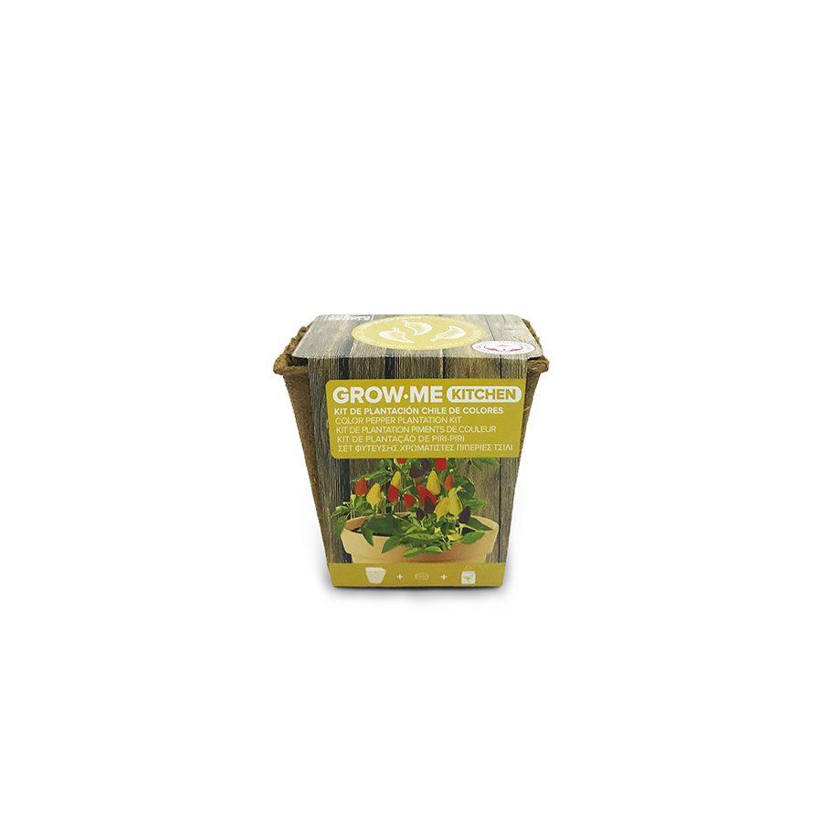 Kit de cultivo con semillas de chile multicolor – Grow me kitchen chile