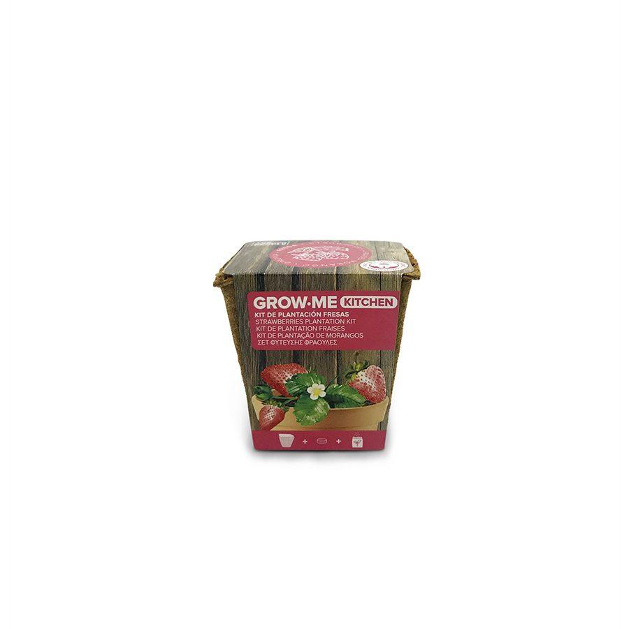 Kit de cultivo con semillas de fresa – Grow me kitchen fresas