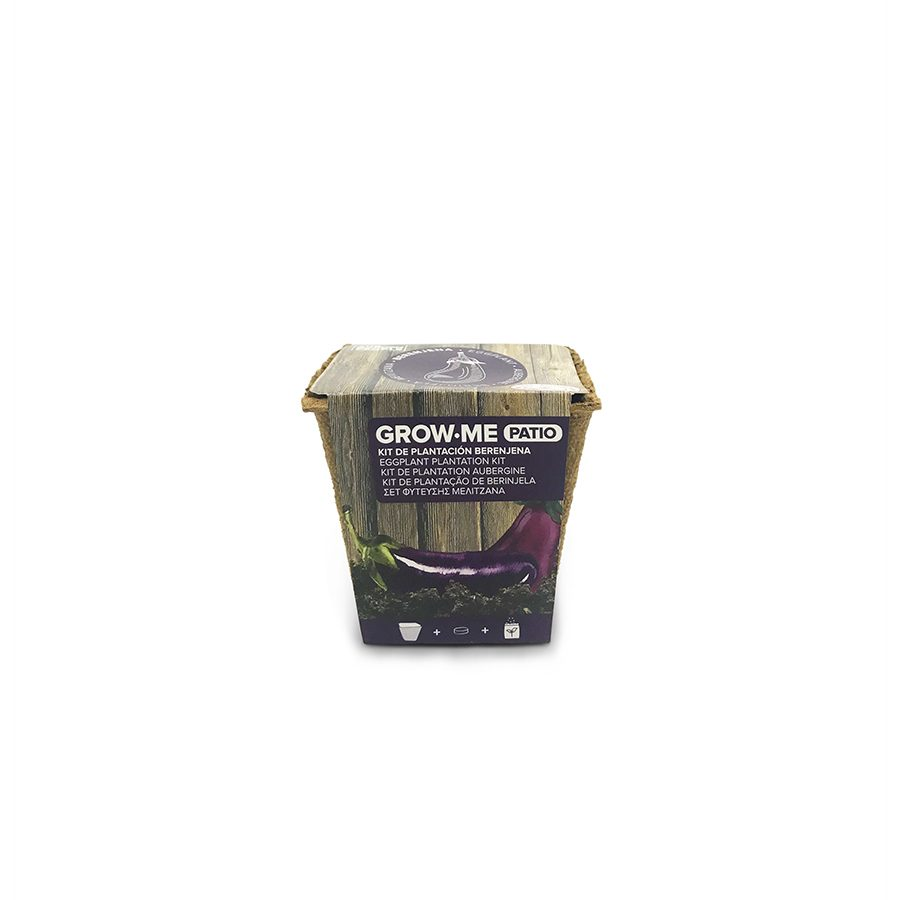 Kit de cultivo con semillas de berenjena larga negra – Grow me patio berenjena