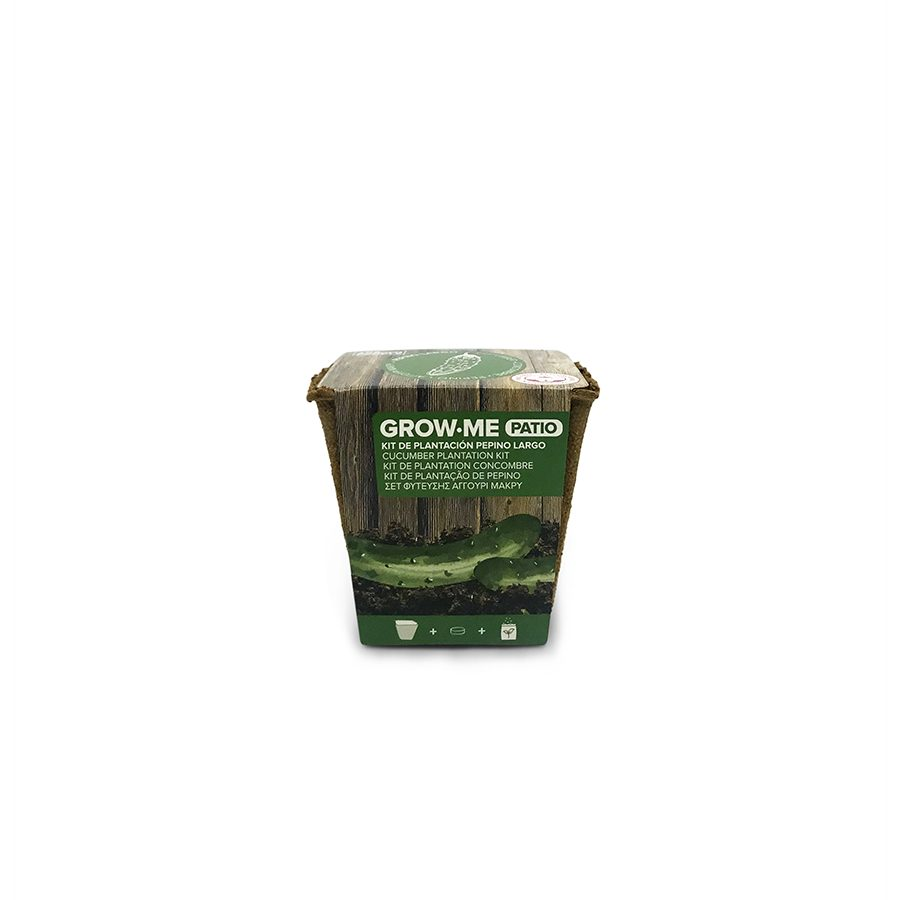 Kit de cultivo con semillas de pepino largo verde – Grow me patio pepino