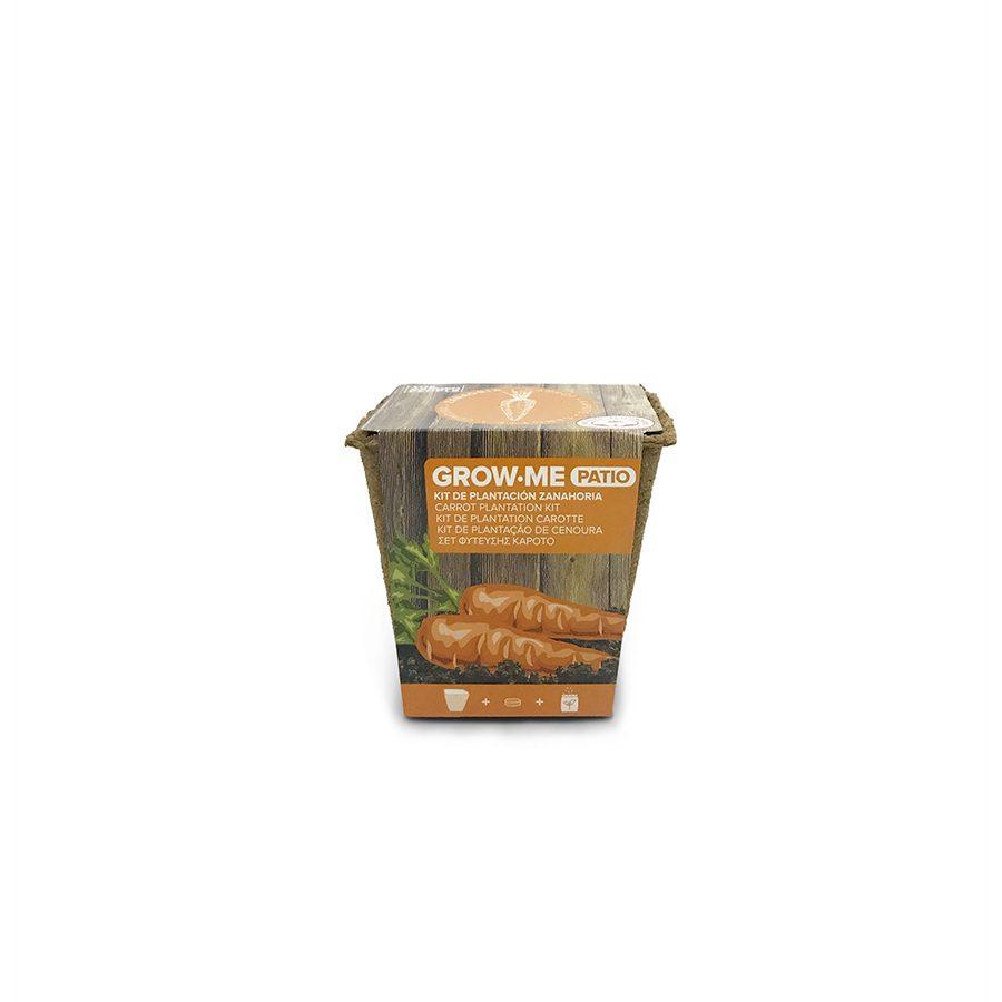 Kit de cultivo con semillas de zanahoria nantesa – Grow me patio zanahoria