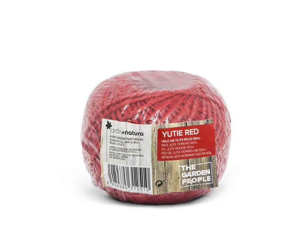Cuerda de yute color rojo 50 metros – Yutie red