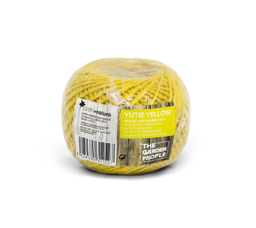 Cuerda de yute color amarillo 50 metros – Yutie yellow