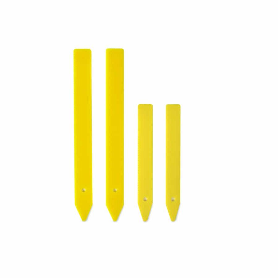 Etiquetas de plástico amarillas grandes (30u)