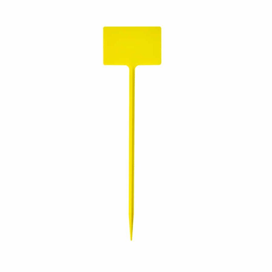 Etiquetas de plástico amarillas en T grandes (5u)